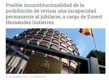 POSIBLE INCONSTITUCIONALIDAD en la Revisión de una INCAPACIDAD PERMANENTE | REJ Gabinete Jurídico (Cornellá. Barcelona)