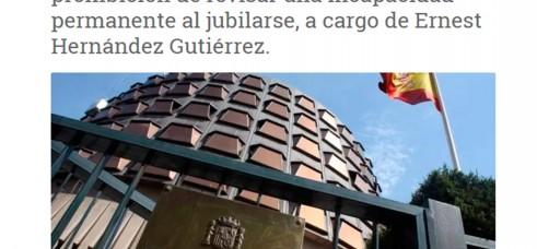 Posible INCONSTITUCIONALIDAD de la prohibición de REVISAR la INCAPACIDAD PERMANENTE al jubilarse, a cargo de Ernest Hernández Gutiérrez